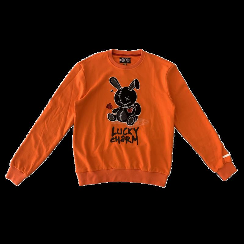 "BKYS BKYS ""Teddy "" Crewneck Orange"