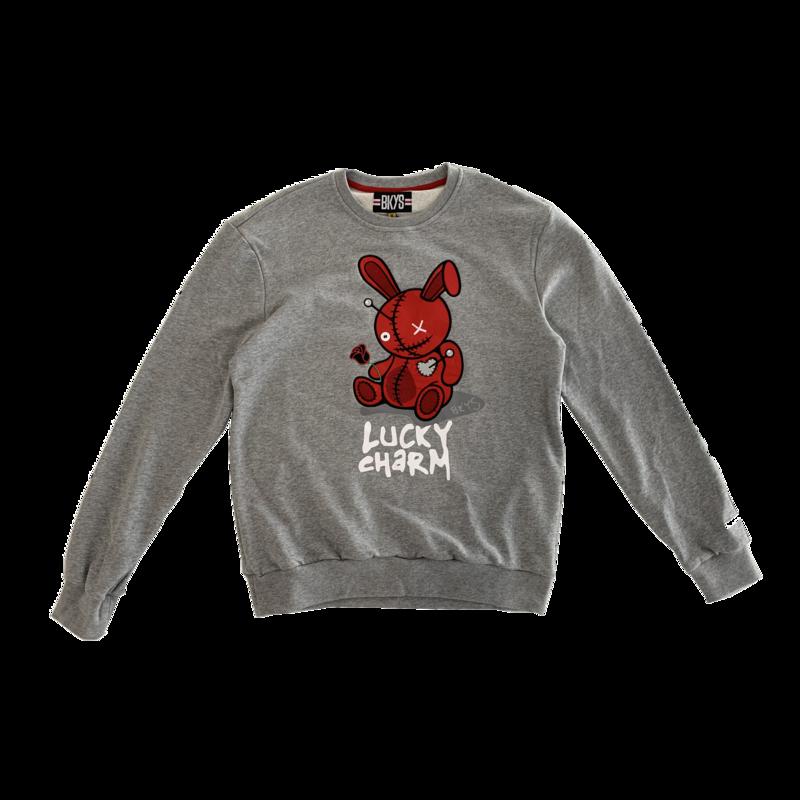 BKYS BKYS 'Bunny' Crewneck Grey/Red