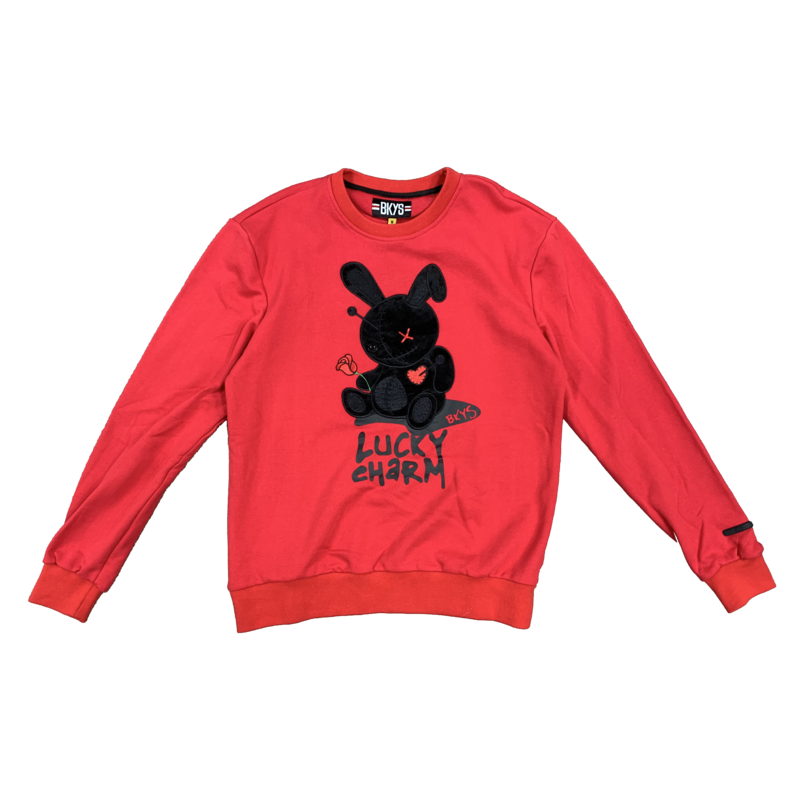 "BKYS BKYS ""Bunny "" Crewneck Red/Black"