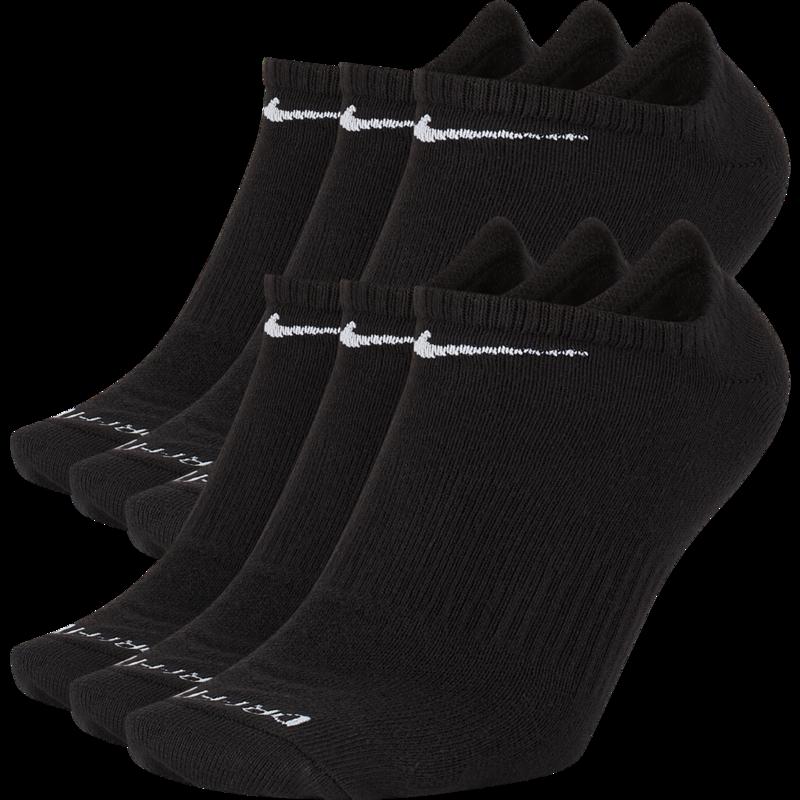 Nike Nike Dri-Fit Everyday Plus Lightweight No Show Sock Black/White SX6900 010