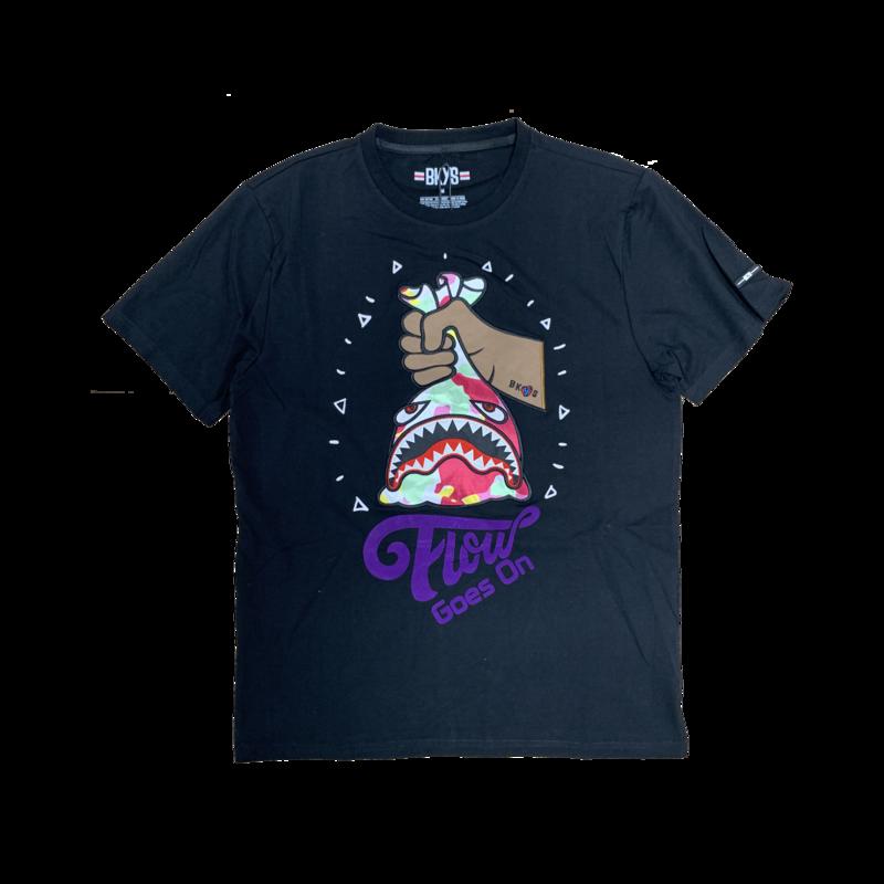 BKYS BKYS 'Flow Goes On' Embroidered Tee Black