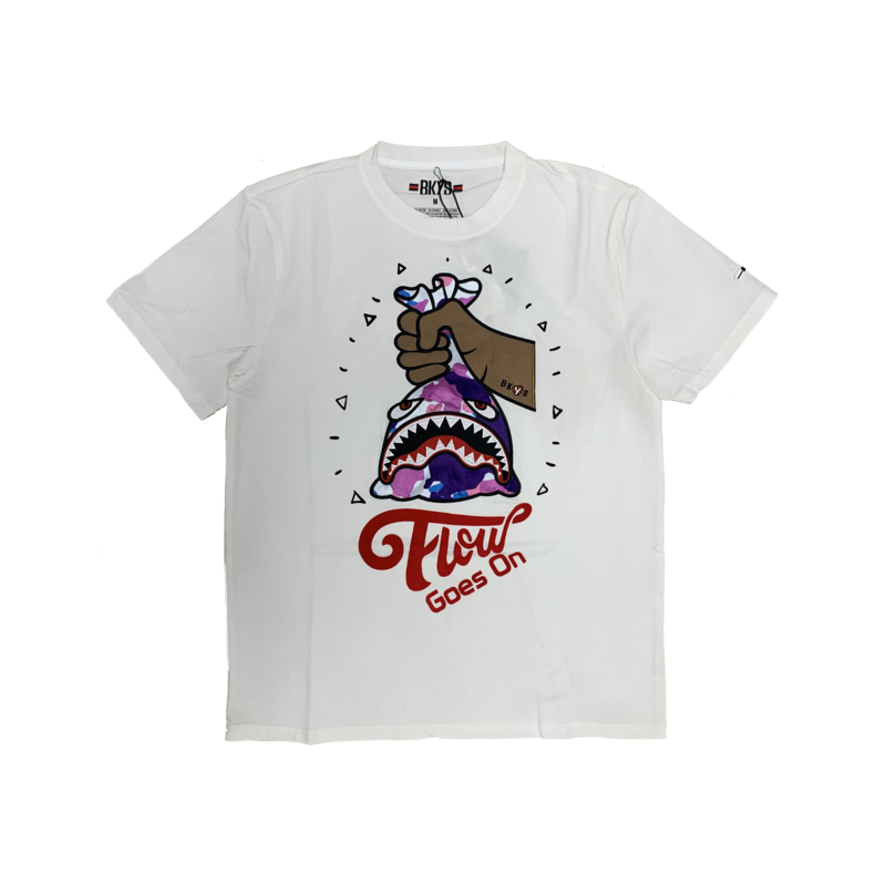 BKYS BKYS 'Flow Goes On' Embroidered Tee White