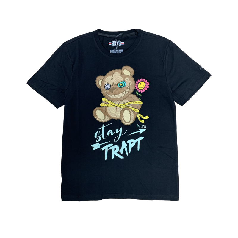 BKYS BKYS 'Teddy' Stay Trapt Embroidered Tee Black