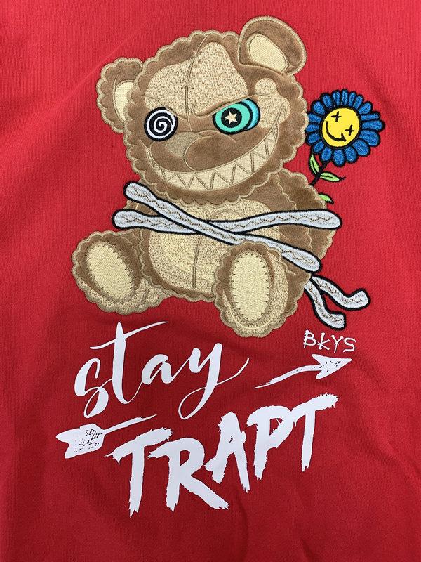 BKYS BKYS 'Teddy' Stay Trapt Red Crewneck