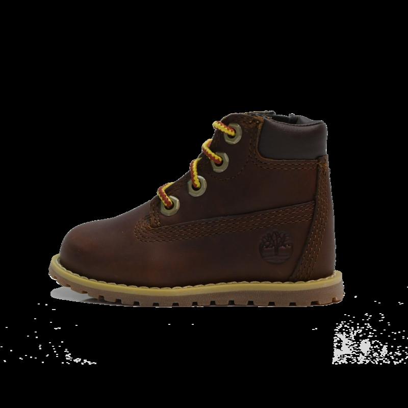 "TIMBERLAND Timberland Pokey Pine 6"" Size Zip Boot Toddler- Dark Brown Full Grain - TB0A27F3 D25"