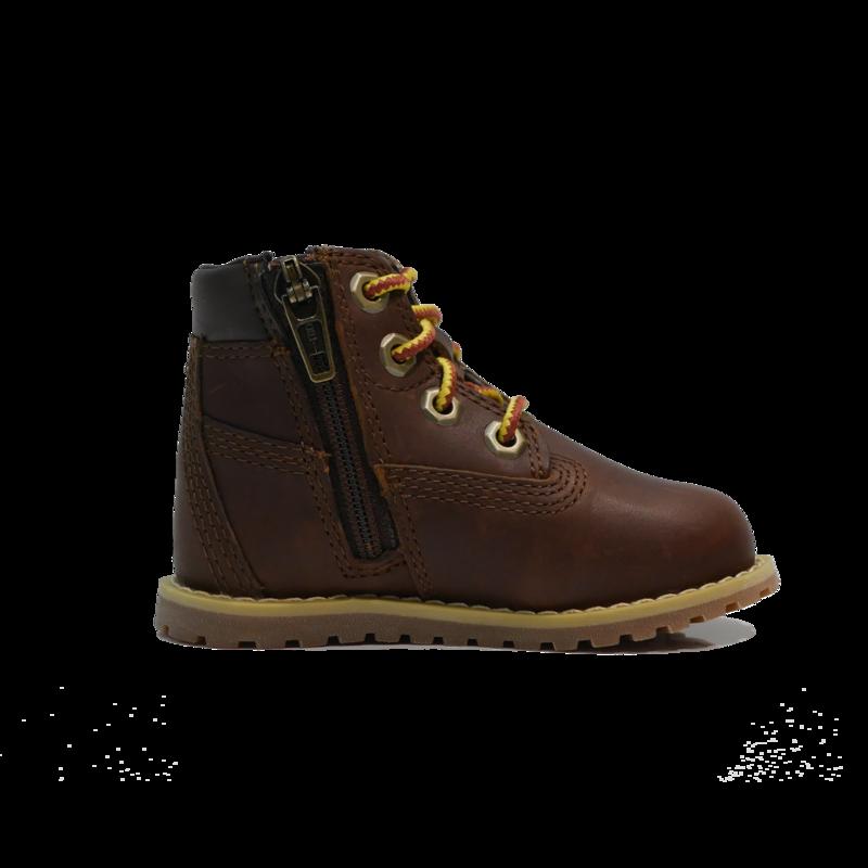 "TIMBERLAND Timberland Pokey Pine 6"" Size Zip Boot - Dark Brown Full Grain - TB0A27F3 D25"