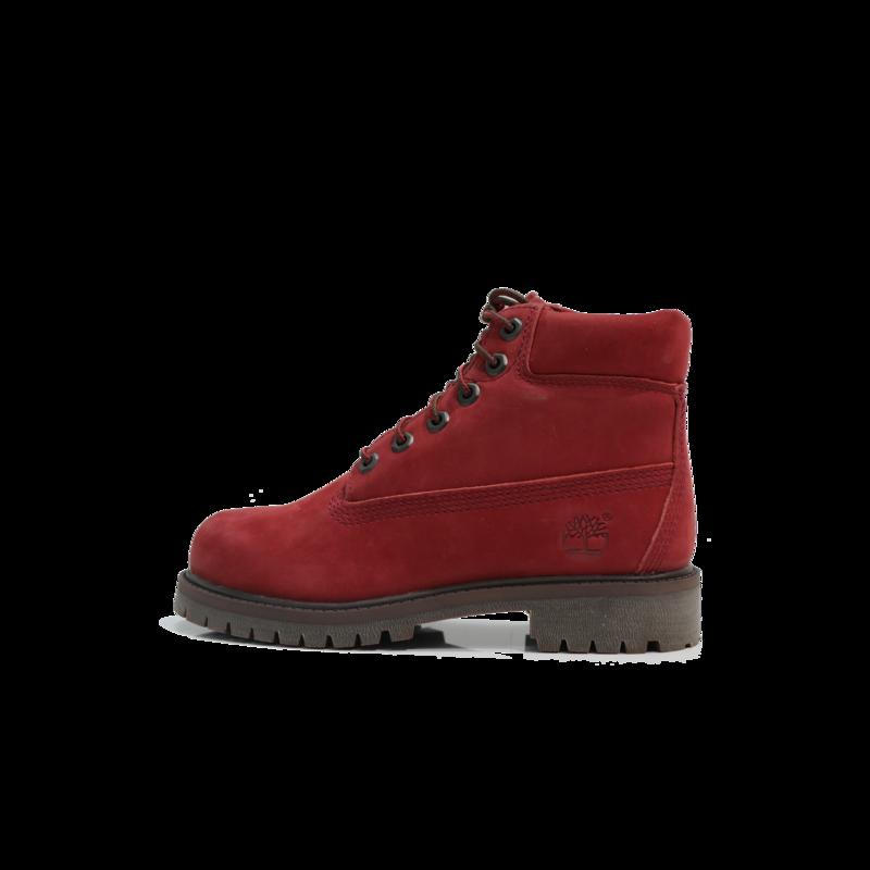 "TIMBERLAND Timberland Premium 6"" WP Boot Gradeschool- Dark Red Nubuck - TB0A2954 V15"