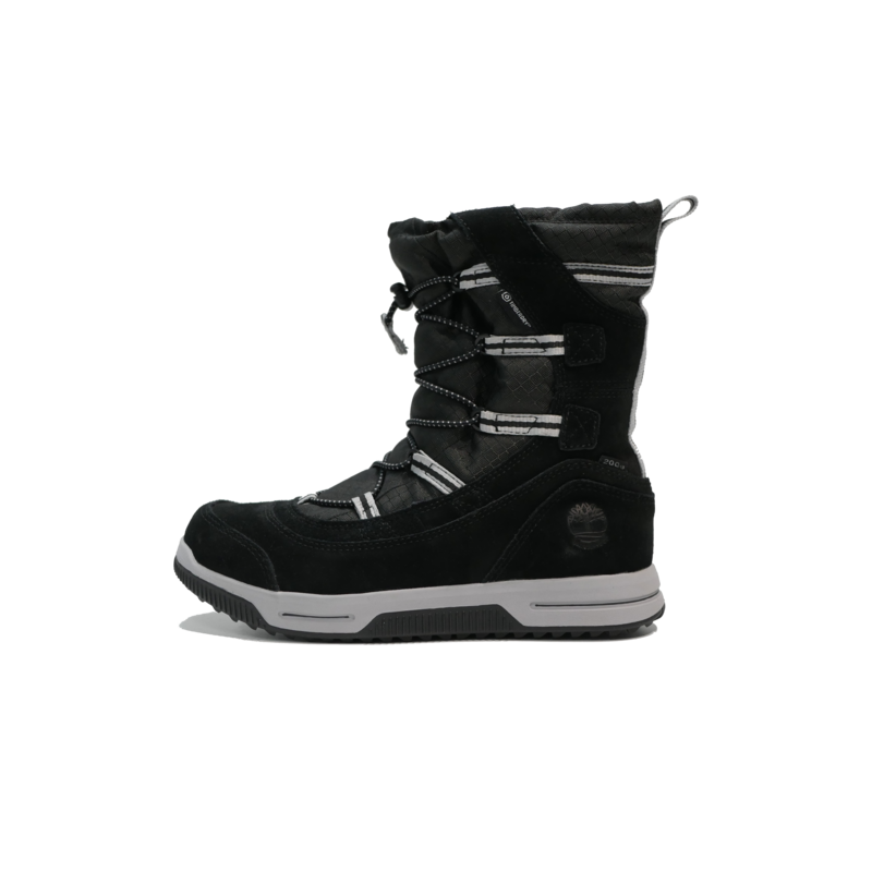 TIMBERLAND Timberland Junior Snow Stomper WP Pull On Boot Black Suede TB0A1UIK 015