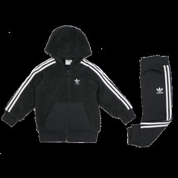 Adidas Adidas Kids Polarfleece hood Black/White GD2646