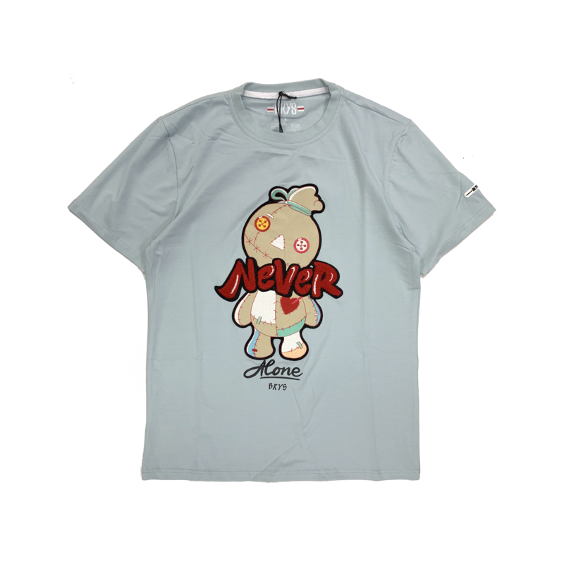 BKYS BKYS 'Doll' Never Embroidered Tee  Light Blue