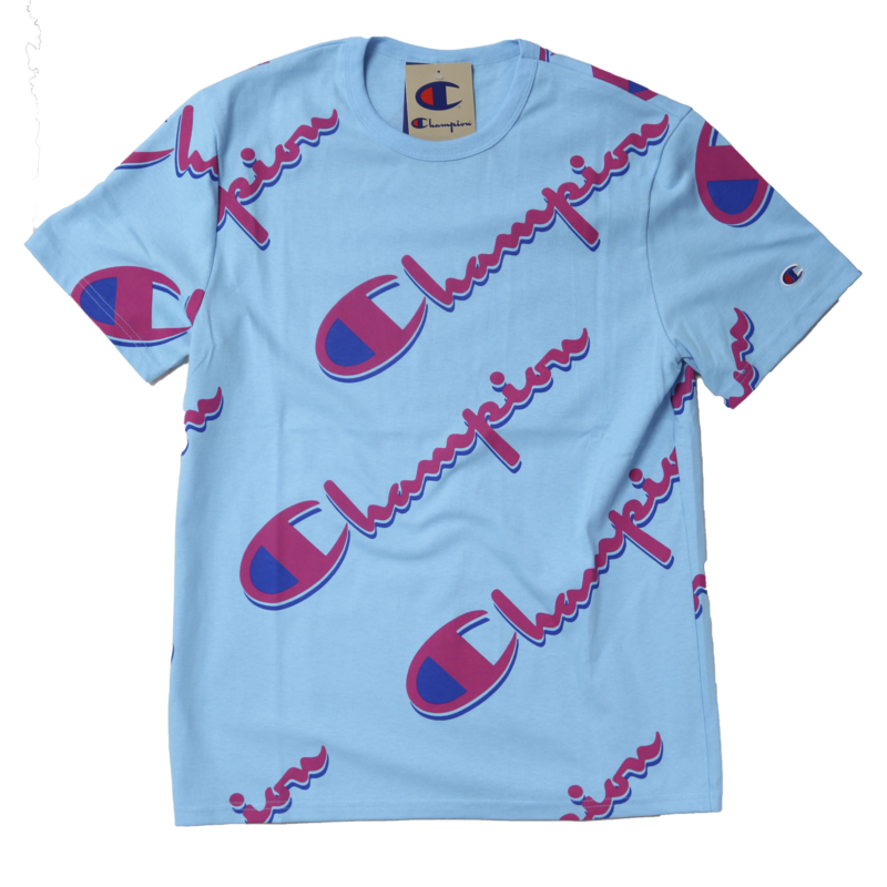 Champion Champion AOP Shirt Powder Blue T1919S