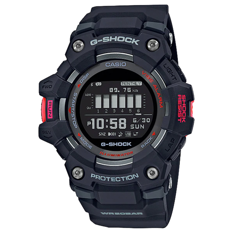 g-shock G-Shock G-Squad Power Trainer GBD100-1CR Black Red