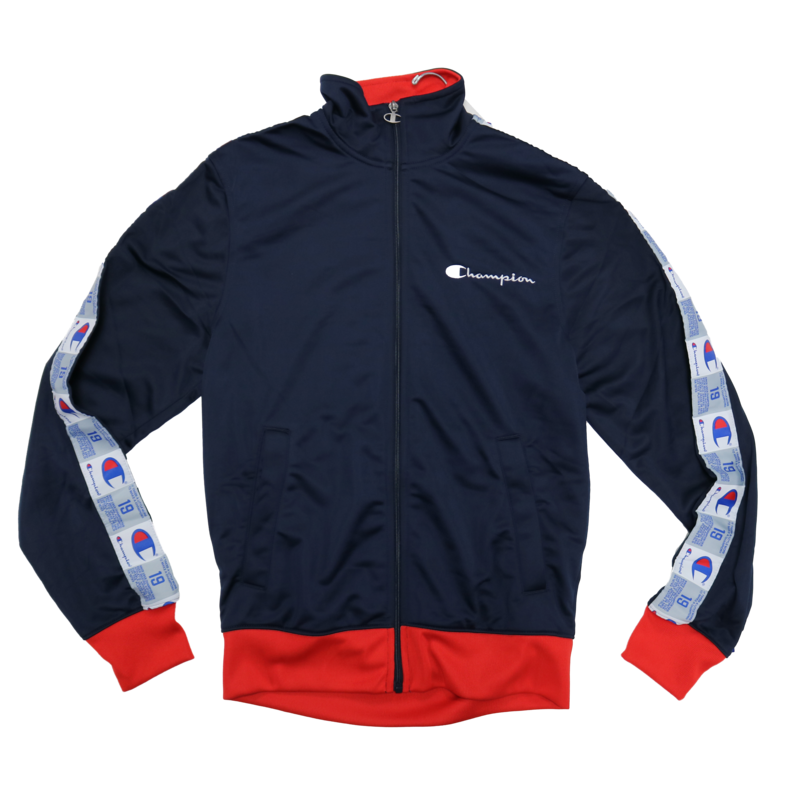 Champion Champion Men's Tricot Track Jacket Navy/Red V3377