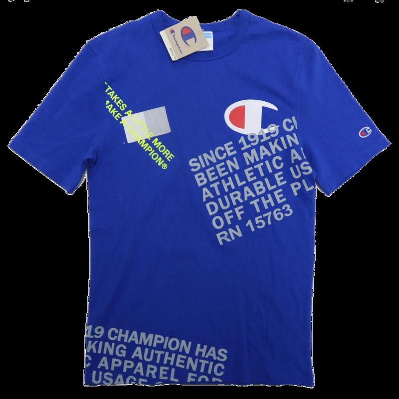 Champion Champion Men's 'Takes a little more' Print Tee Blue T1919G