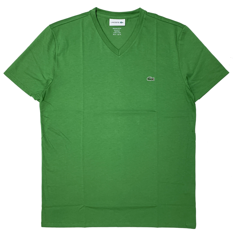 LACOSTE Lacoste Men's V-neck Pima Cotton T-shirt  TH6710 52 TAX