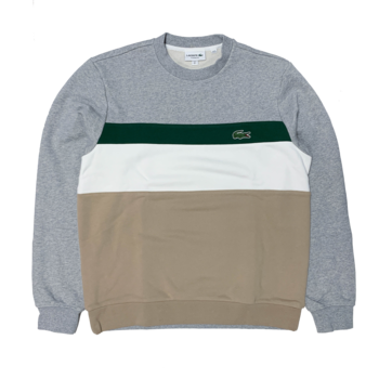 LACOSTE Lacoste Men's Colourblock Fleece Crew Neck Sweatshirt SH2175 52 9A8
