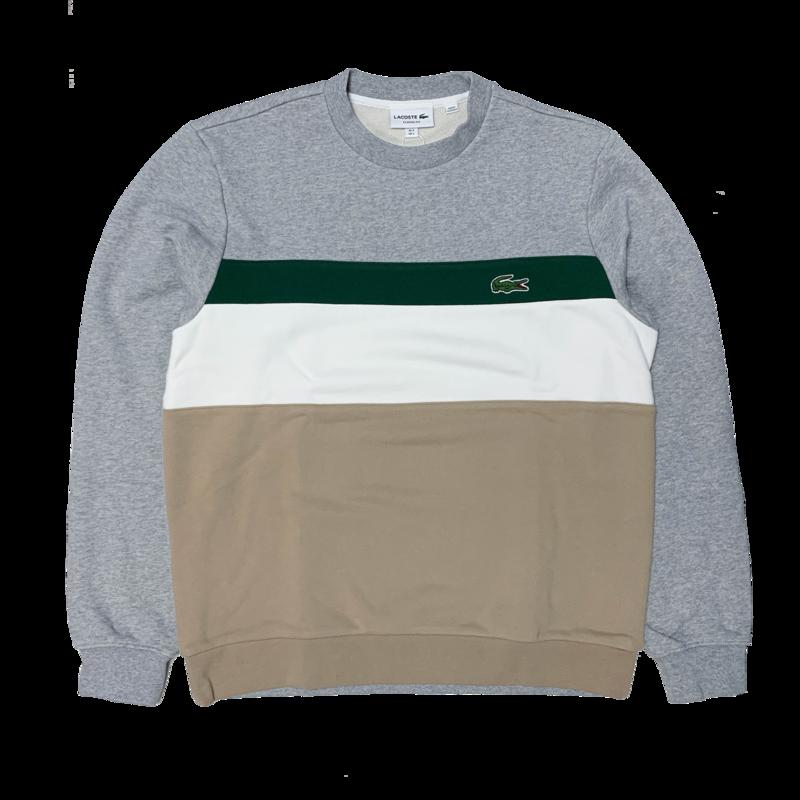 LACOSTE Lacoste Men's Colourblock Fleece Crew Neck Sweatshirt SH2175 52 9A8
