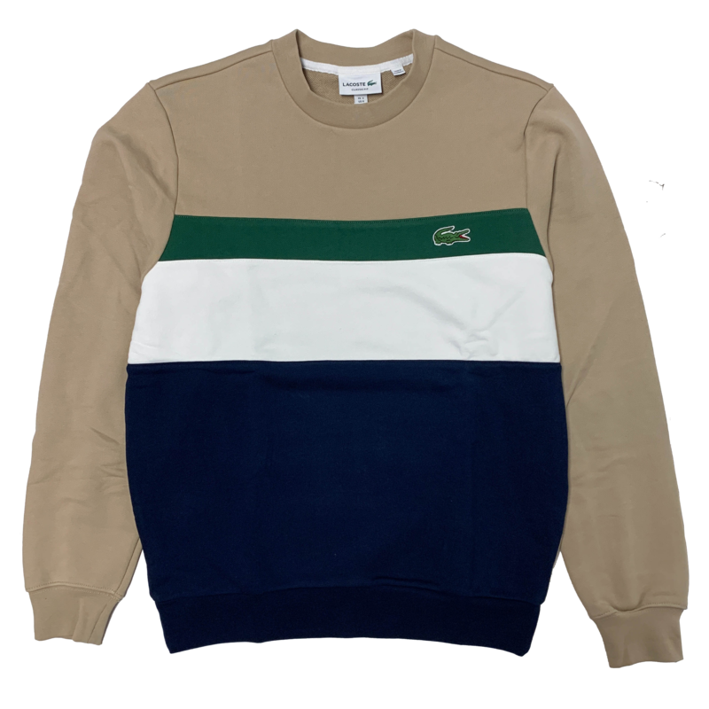 LACOSTE Lacoste Men's Colourblock Fleece Crew Neck Sweatshirt SH2175 52 9A1