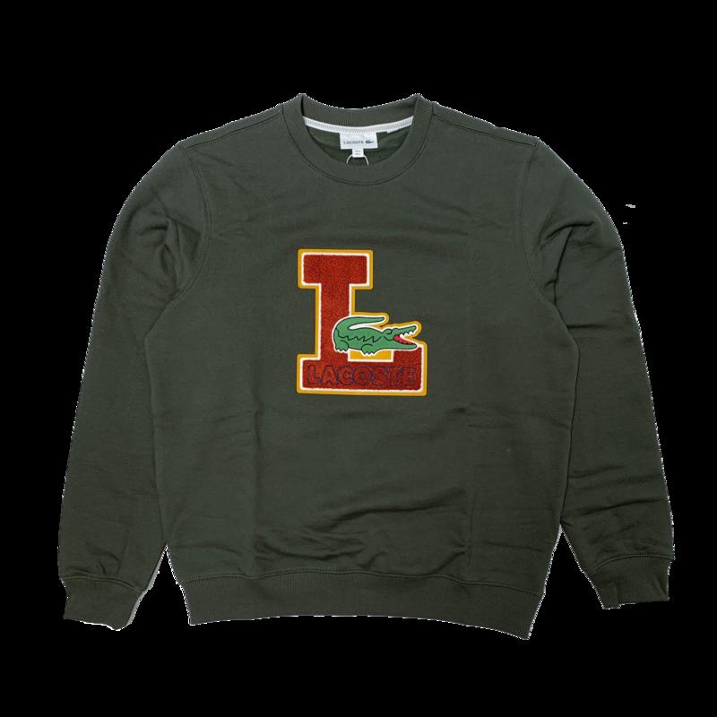 LACOSTE Men's Crew Neck Badge Fleece Sweatshirt SH2208 52 S7T