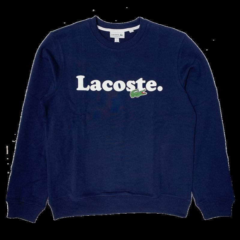 LACOSTE Lacoste Men's Lacoste And Crocodile Branded Fleece Sweatshirt SH2173 52 166