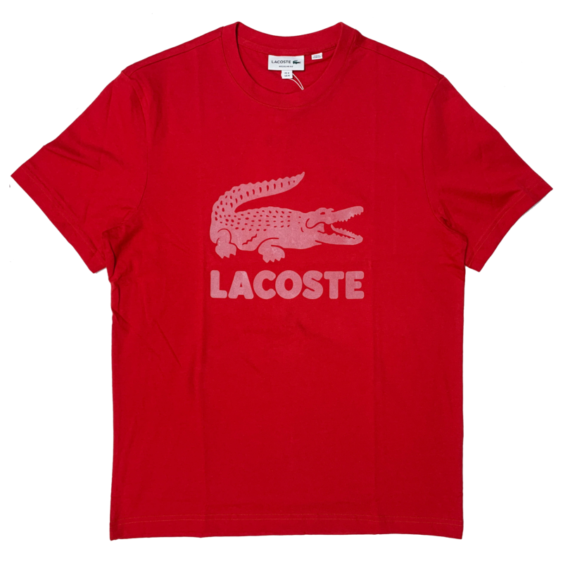 LACOSTE Lacoste Men's Printed Lacoste Logo Cotton T-shirt TH2166 52 240