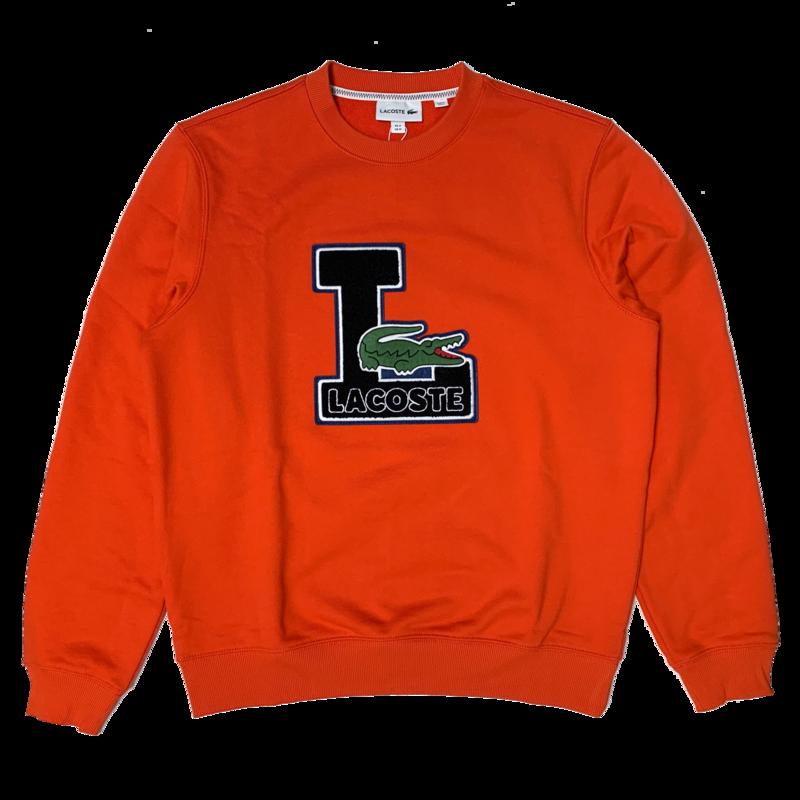 LACOSTE Lacoste Men's Crew Neck Badge Fleece Sweatshirt SH2208 52 3B2