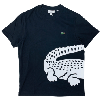 LACOSTE Lacoste Men's Oversized Crocodile Print Crew Neck T-shirt TH5139 52 031