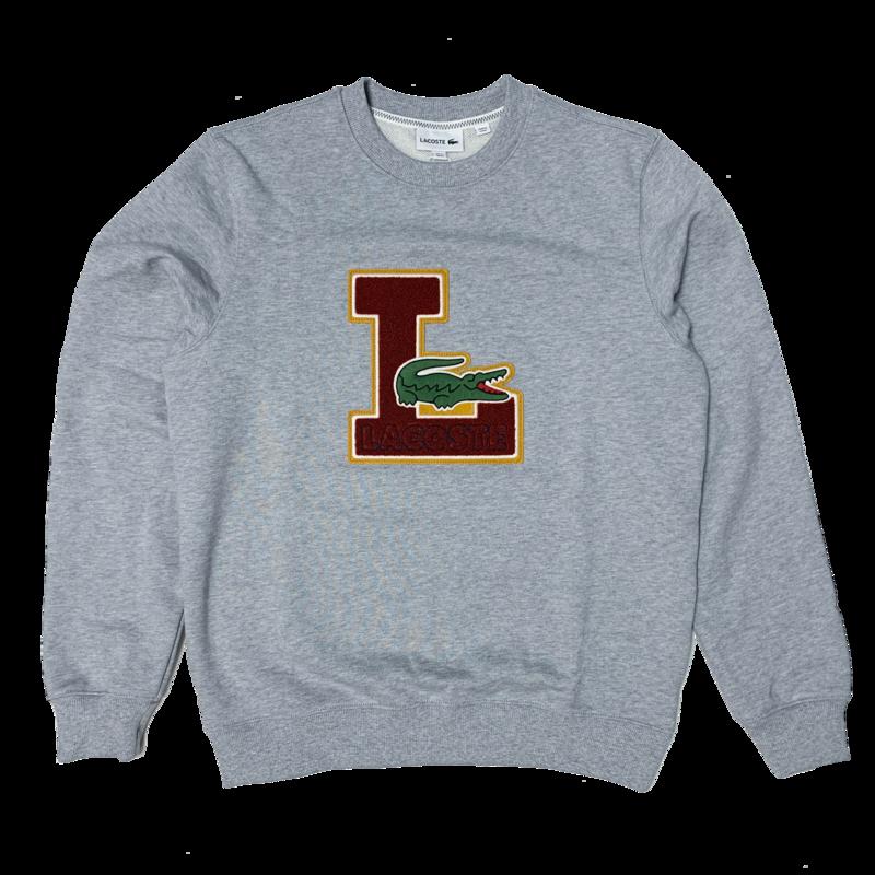 LACOSTE Men's Crew Neck Badge Fleece Sweatshirt  SH2208 52 CCA