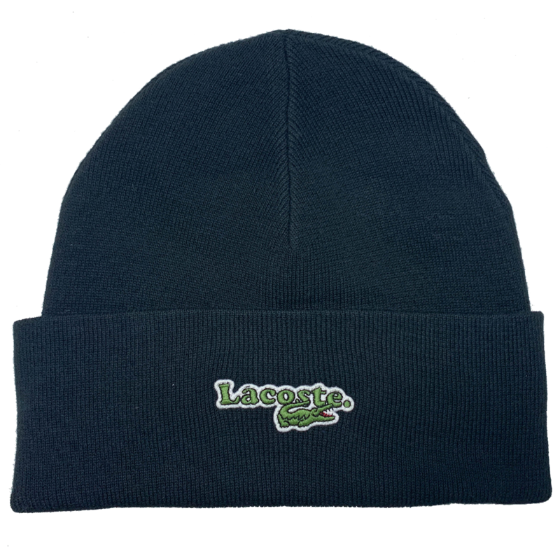 Lacoste Men's Badge Ribbed Wool Beanie RB2224 52 031