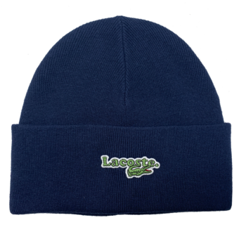 Lacoste Men's Badge Ribbed Wool Beanie RB2224 52 166