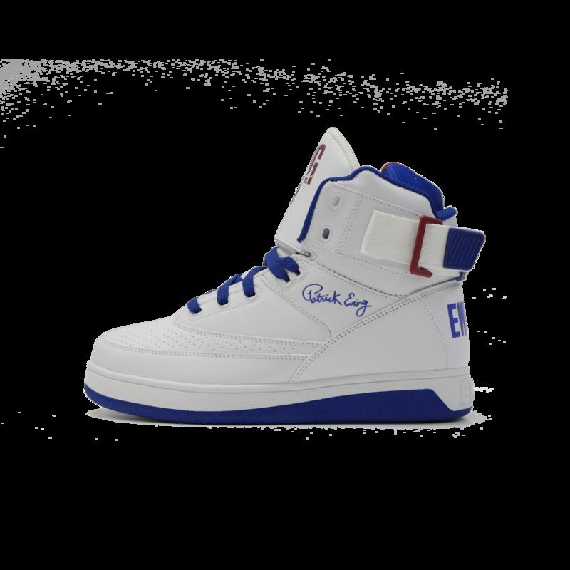 Ewing 33 Hi PU White/Royal Blue/Burgundy 1BM01043 125