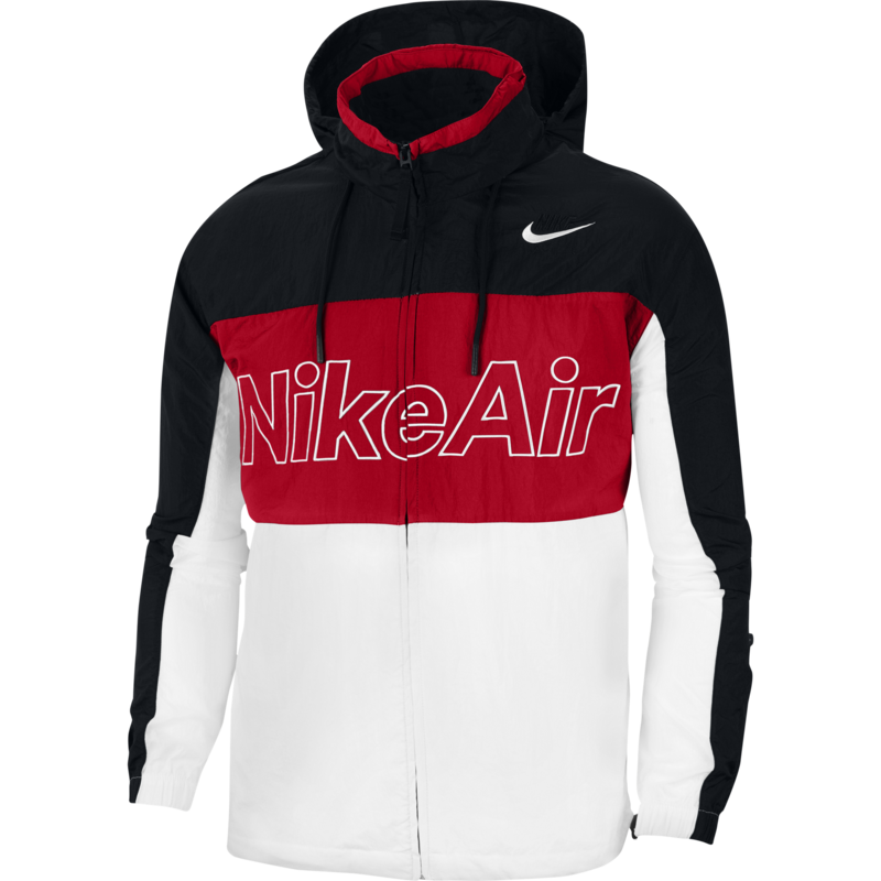 Nike Nike Men's Air Hooded Jacket Black/White/Red CJ4856 011