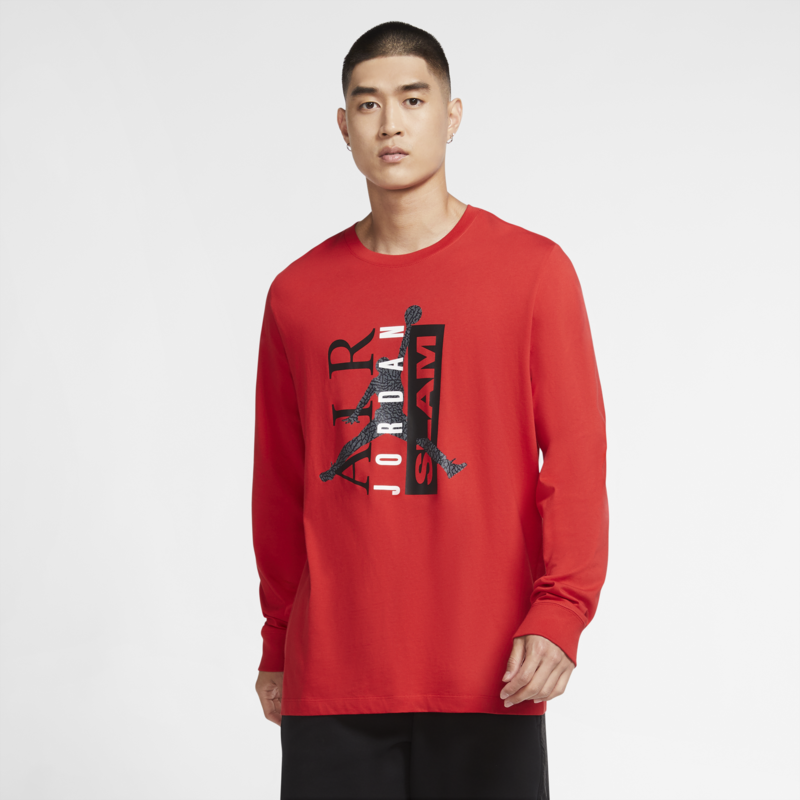 Air Jordan Air Jordan Men's Legacy 1 Longsleeve Tee Red CZ1171 657