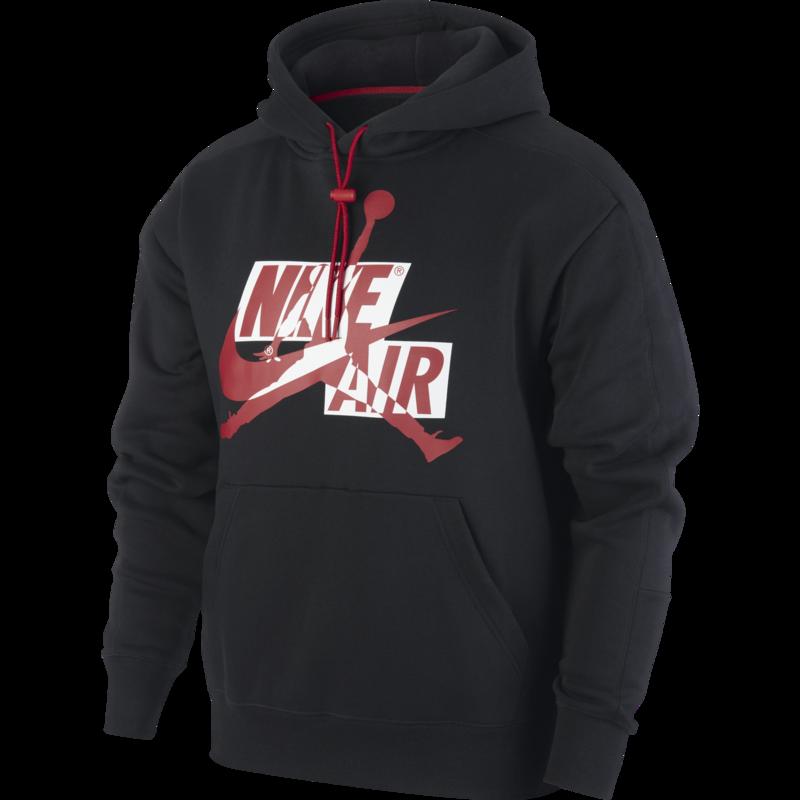 Air Jordan Air Jordan Men's Jumpman Classic Pullover Mash up Hoodie Black/Red CK6737 011