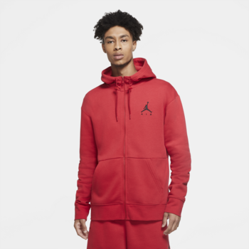Air Jordan Air Jordan Men's Jumpman Air Fleece Full-Zip Hoodie Red CK6679 687