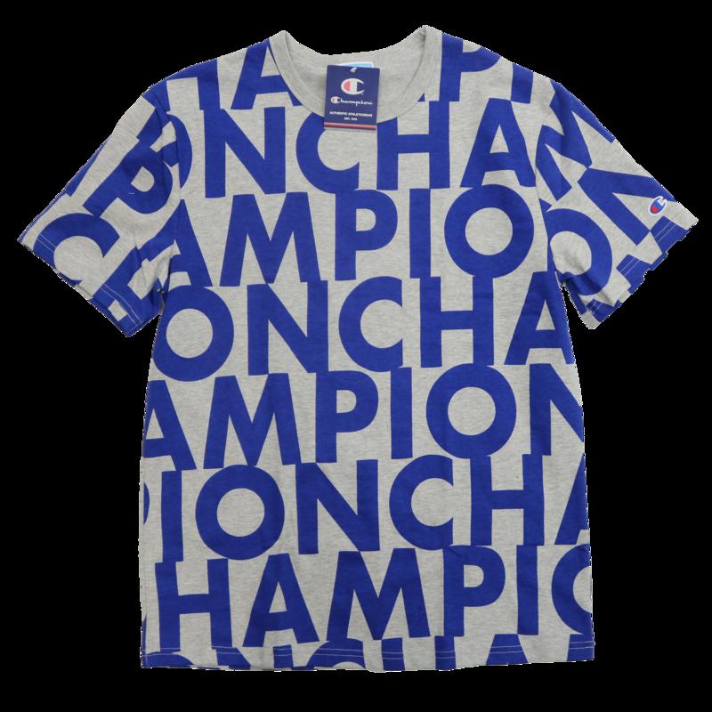 Champion Champion Repeat Big All Over Grey/Blue T1919S