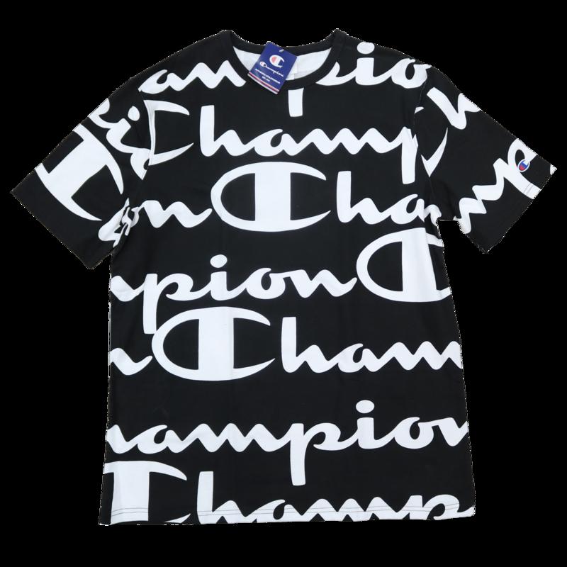 Champion Champion Repeat Big All Over Black/White T1919S