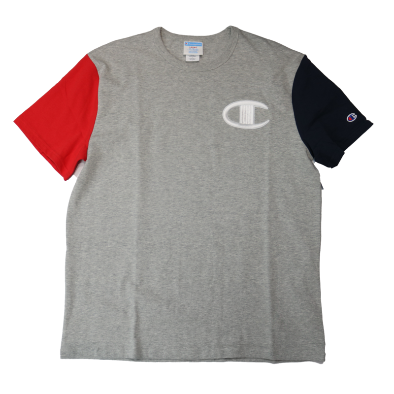 Champion Champion Color Block Embroider C Shirt T7041 Grey/Navy/Red