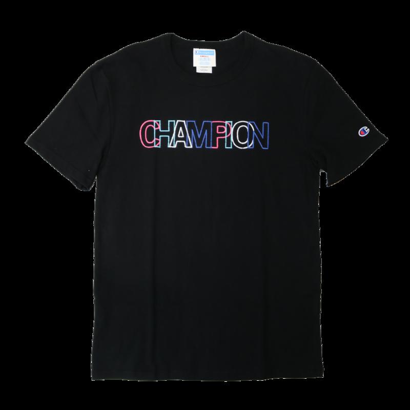 Champion Champion Embroider Colorful Logo Black T1919G