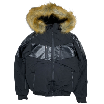 UCXX Luxe CO. Arctic Climate Fur Outerwear Jacket Black