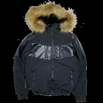 UCXX Luxe CO. Arctic Climate Fur Outerwear Jacket Black