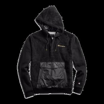 Champion Champion Men's Faux Fur Pullover Hoodie Black S4460