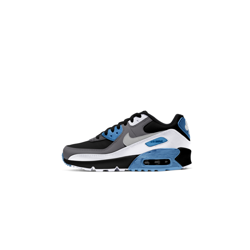 Nike Nike Air Max 90 LTR GS Black/White/Laser Blue CD6864 005