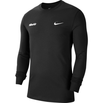 Nike Nike Men's Sportswear Longsleeve Shirt Black/White CU7628 010