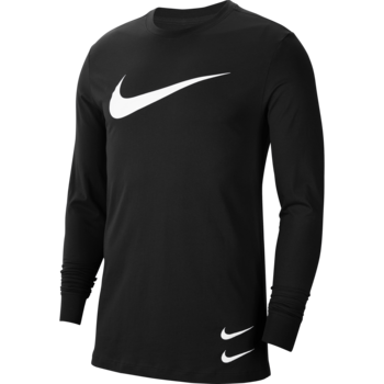 Nike Nike Men's Sportswear Longsleeve Shirt Big Swoosh Black/White CU7355 010