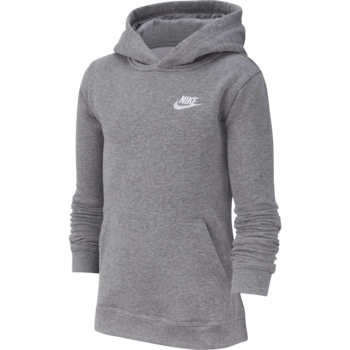 Nike Nike Kid's Fleece Pullover Hoodie Grey/White BV3757 091