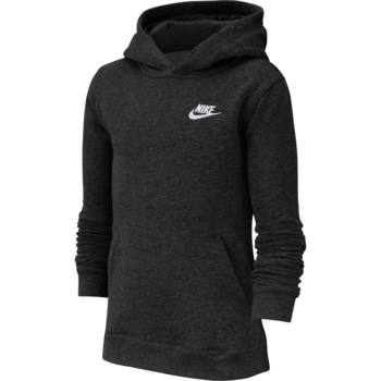 Nike Nike Kid's Fleece Pullover Hoodie Black/White BV3757 011