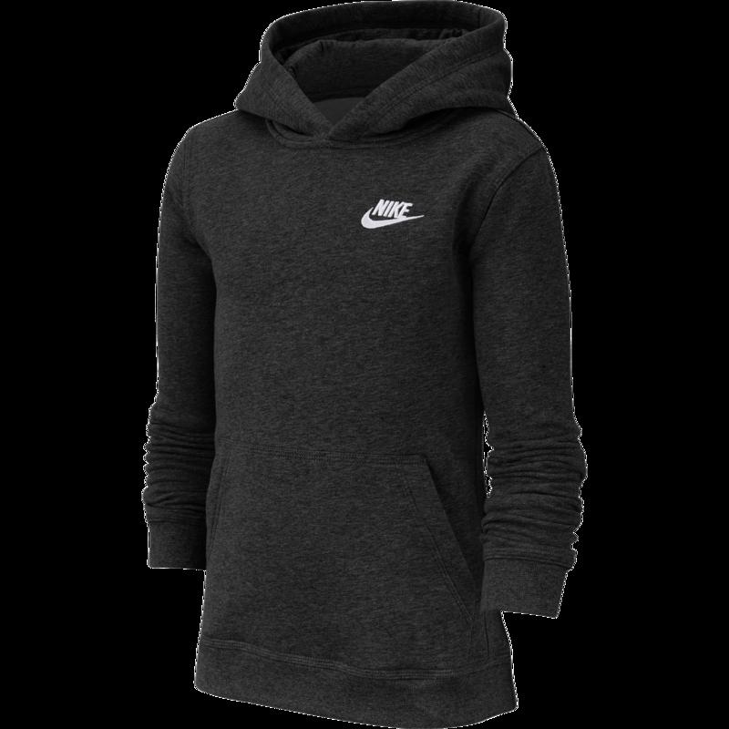 Nike Nike Kid's Fleece Pullover Hoodie Black/White BV3757 011