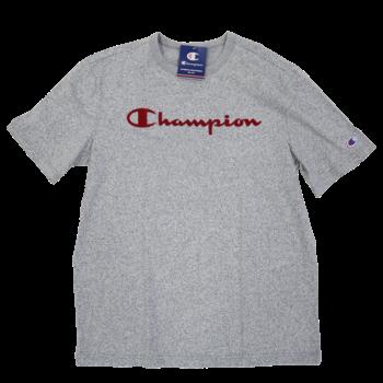 Champion Champion Men's Heritage Mock Twist Tee Static Grey/Red T5077