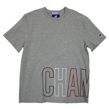 Champion Champion Men's Large Lower Scripted Tee Heather Grey T1919G